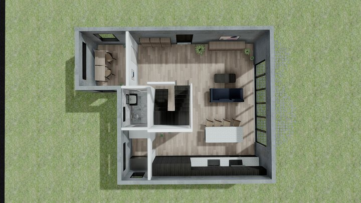 Casa Ashe  - 1st Floor 3D Model