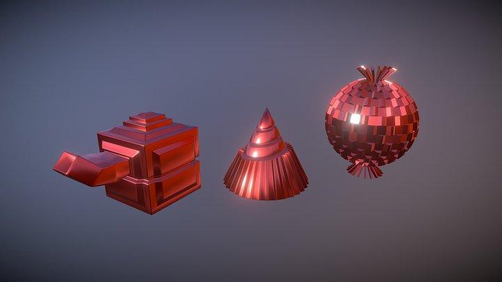 Mesh Modelling Exercise01 - Modified Primitives 3D Model