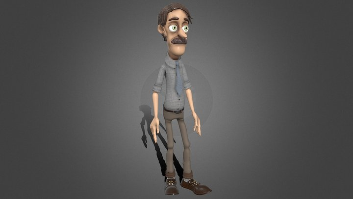 Luigi Character 3D Model