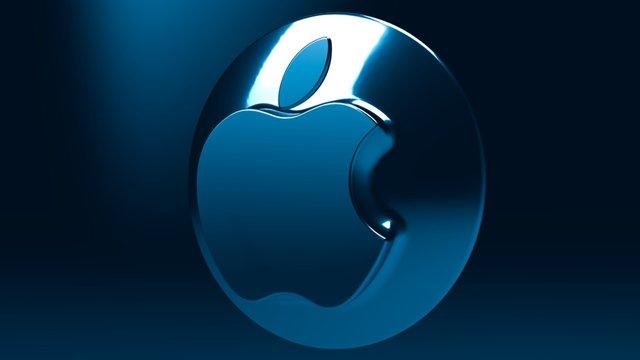 Apple Blue 3D Model