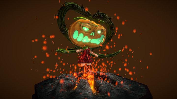 Pumpkin-girl 3D Model