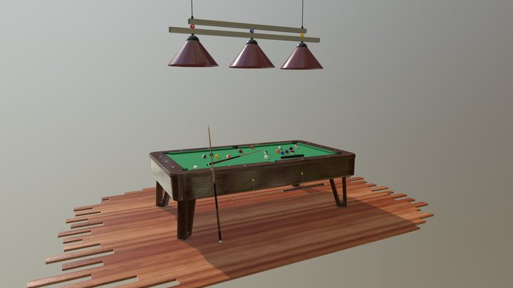 Pool (Billiard) Table 3D Model