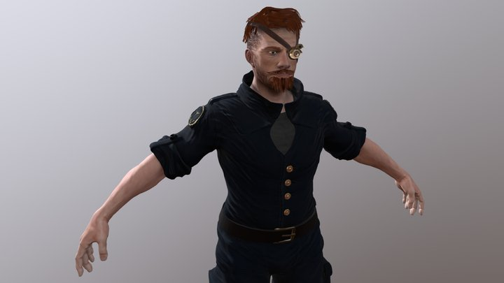 SK Connor Character 3D Model