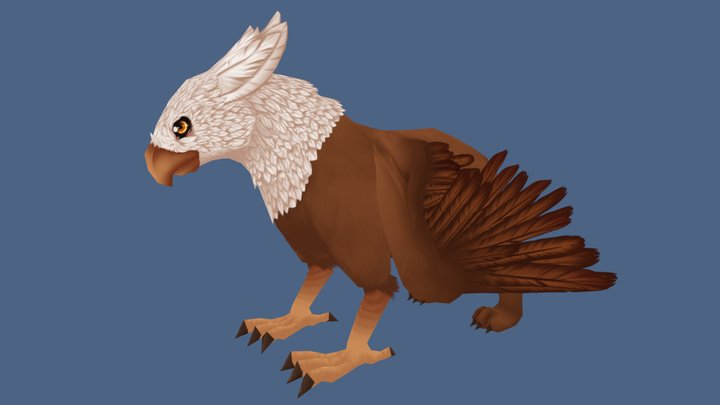 Griffin Non Animated 3D Model
