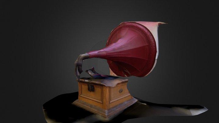 Franks Grammophon grob 3D Model