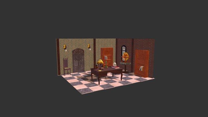 Steampunk Lab 3D Model