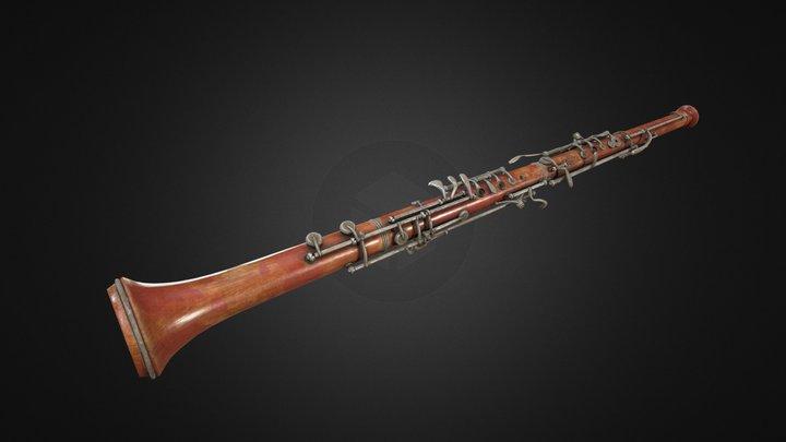 PBR French Oboe 3D Model