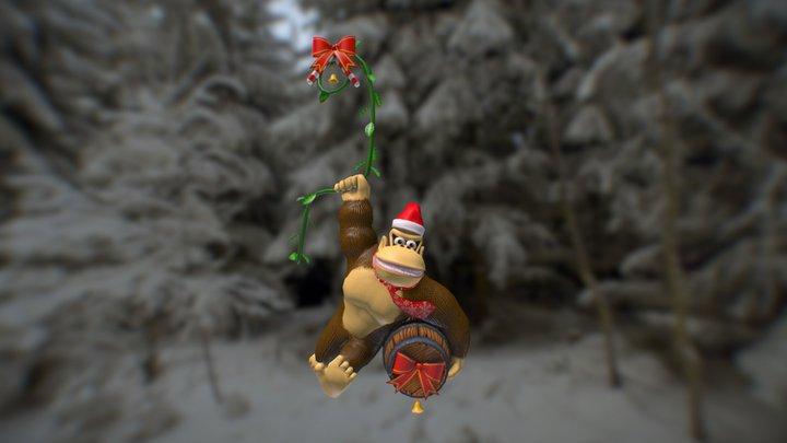 Donkey Kong (Christmas Ornament) 3D Model