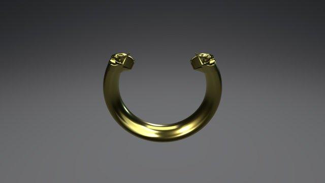Elephant Head Bracelet 3D Model