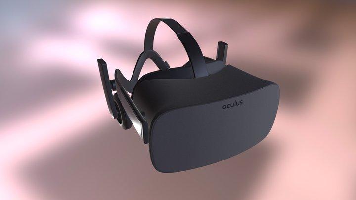 Oculus Rift CV1 3D Model