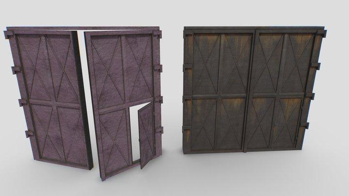 Industrial metal gate 3 3D Model