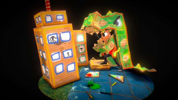 Cardboard is Magical 3D Model