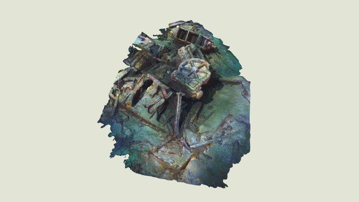 Unknown Wreck Bay de Seine 3D Model