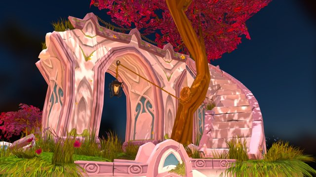 World of Warcraft-style diorama 3D Model