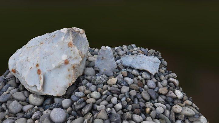 Bolen E-notch arrowhead 3D Model
