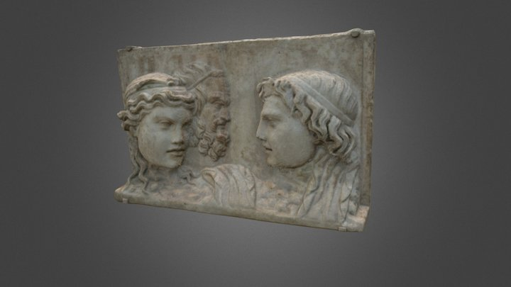 Roman Relief from Pompeii (100 BCE - 100 CE) 3D Model