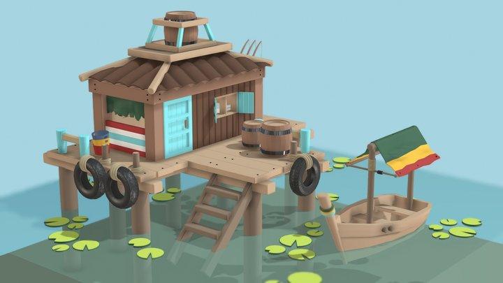 Fish House 3D Model