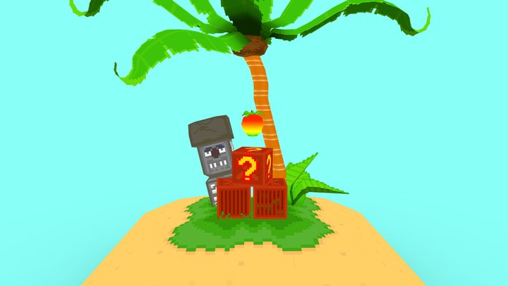 CrashBandicoot Lowpoly Island 3D Model