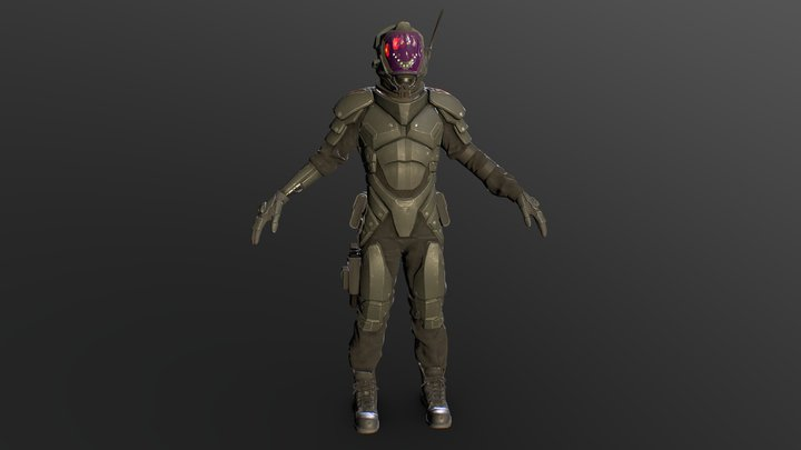 Android Soldier 3D Model