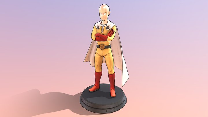 Saitama (One Punch Man) - Revised 3D Model