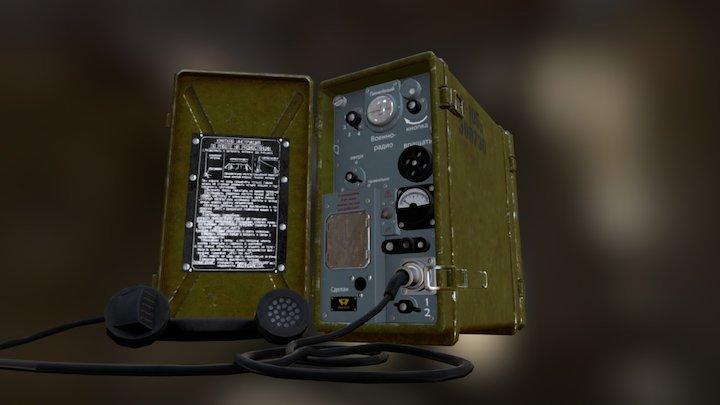 Soviet Military Radio Transceiver 3D Model