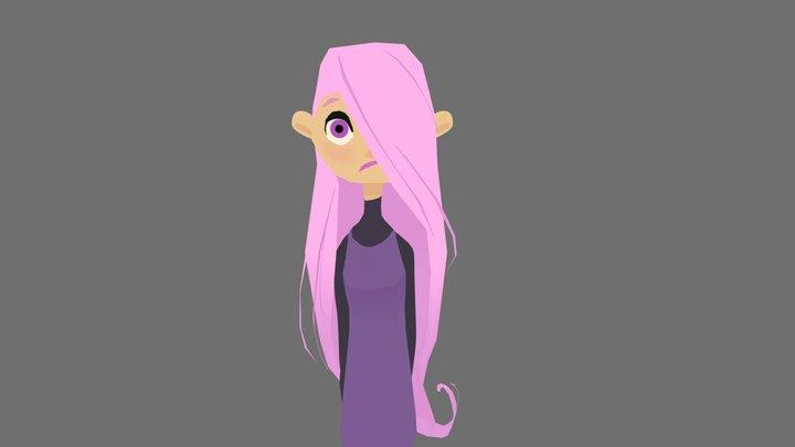 Purple Girl 3D Model