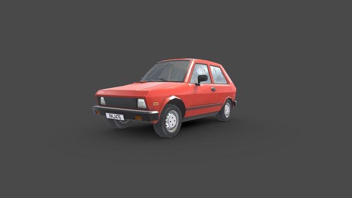 1980s Soviet Hatchback 3D Model