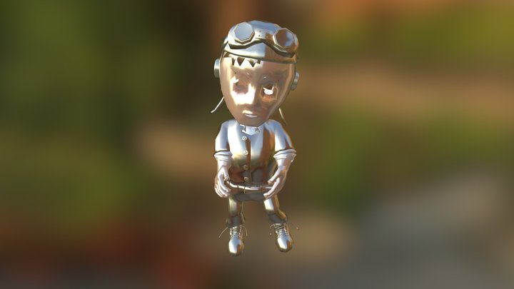 Animated Ace 3D Model