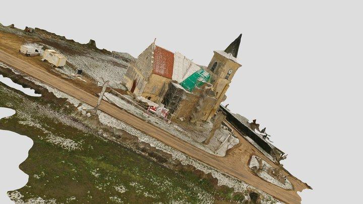 église de Cuncy les varzy 3D Model