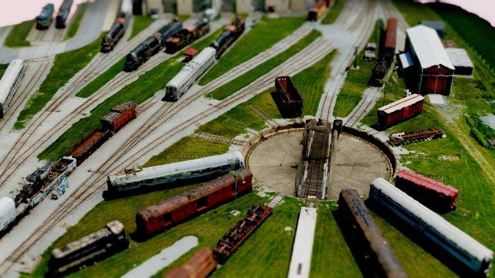Trains 3D 3D Model