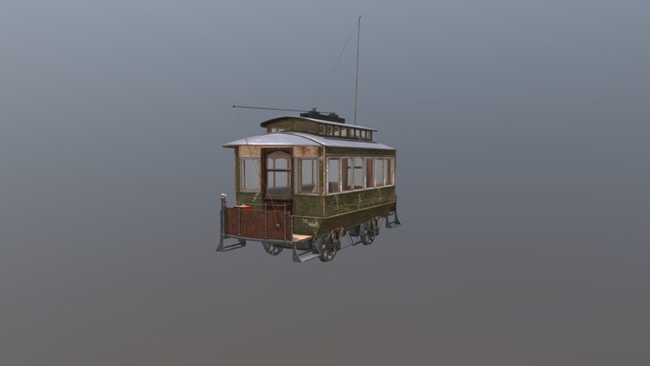 Trolley model for  Train Simulator 2019 3D Model