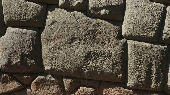 Twelve angled stone, Cuzco, Peru 3D Model