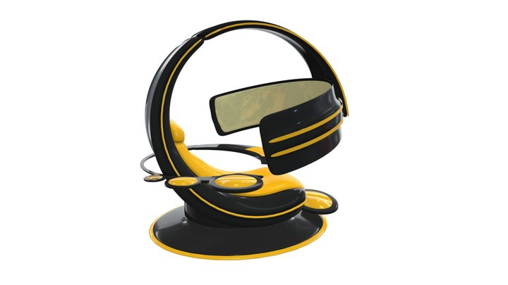 "Gaming chair ""Kiiro"" 3D Model"