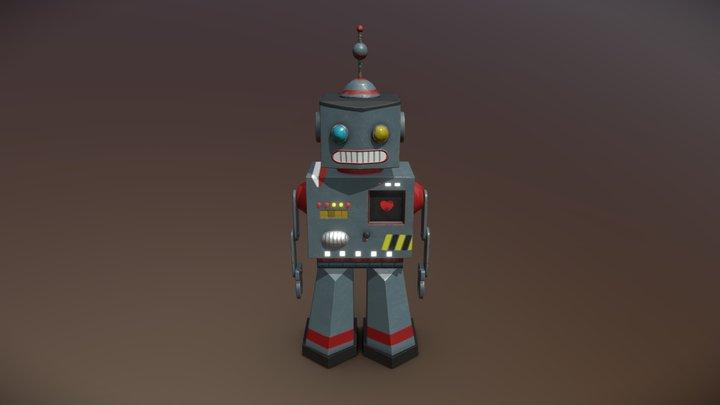 Toy Robot for VR game 3D Model