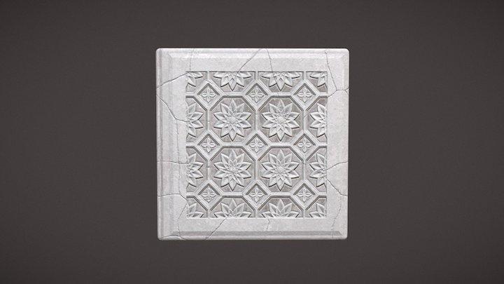 Floral Concrete 3D Model