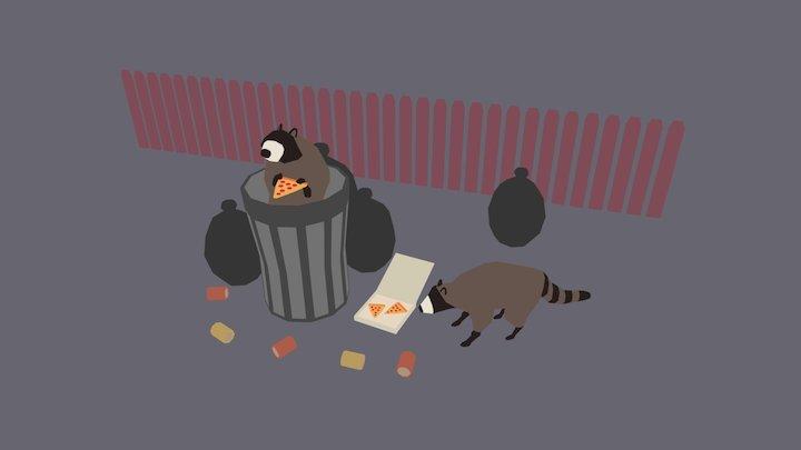 Trash Pandas 3D Model