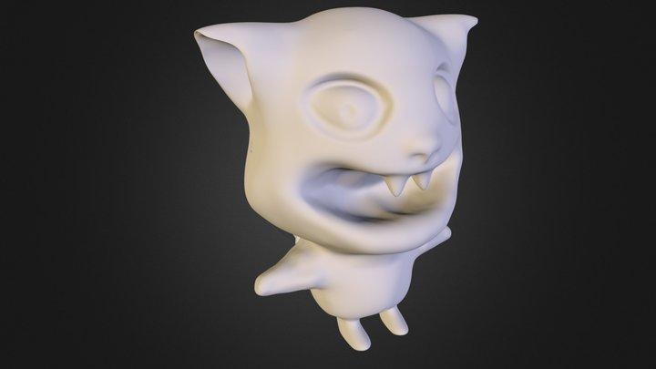 comic cat 3D Model