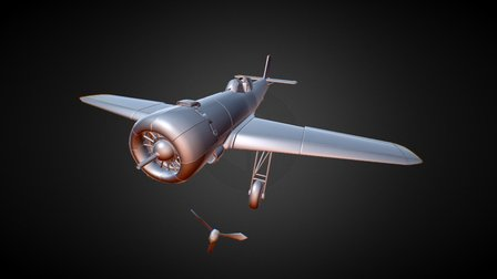 Nakajima Ki-115 Tsurgi Plane 3D Model