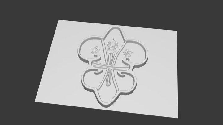 Moule ancien - Fleur de Lys 3D Model