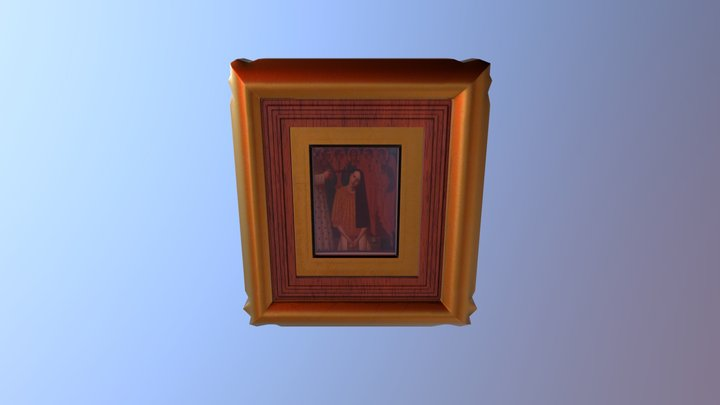 medieval painting 3D Model
