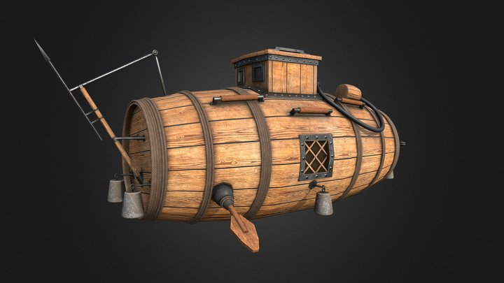 The first Russian submarine 3D Model