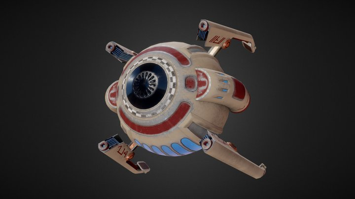 Bubble Ship 3D Model