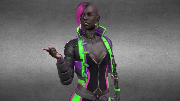 Cyberpunk Skater 3D Model