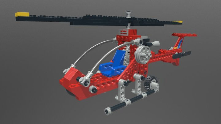 Lego Technic 8812 Aero Hawk II 3D Model