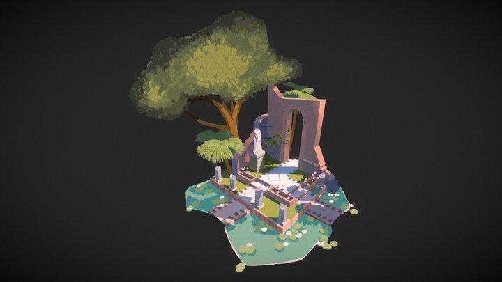 Walled Garden Diorama 3D Model
