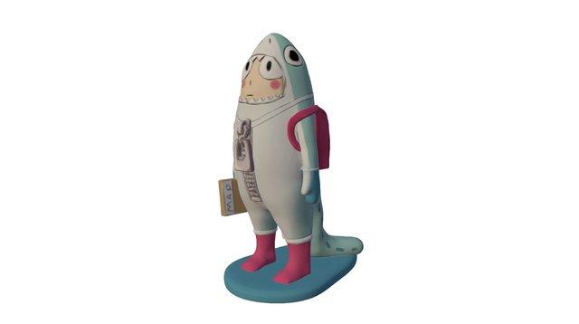 #257 - Shark Boy - Jenny Peng 3D Model