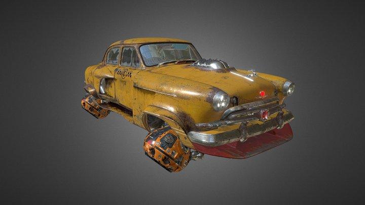 Volga GAZ-21 Hover 3D Model