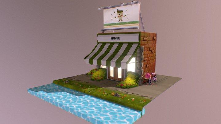 Café 3D Model