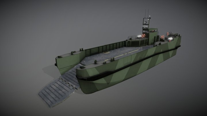 Landing Craft Design 3D Model