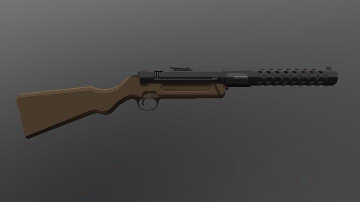 Low poly MP28 3D Model